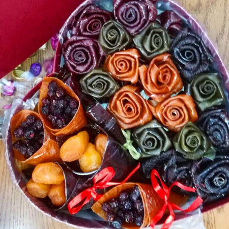 تزیینات لواشک به شکل کیک و گل, زیباترین تزیینات لواشک