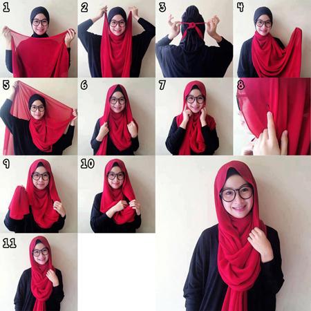 آموزش تصویری بستن شال و روسری,نحوه بستن شال و روسری