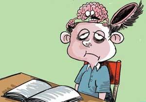 استرس کودکان در شب امتحان